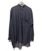 COMOLI(コモリ)の古着「ダンガリープルオーバーシャツ」 ネイビー