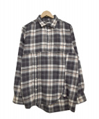 SASQUATCHfabrix.(サスクワッチファブリックス)の古着「プルオーバーネルシャツ」|グレー×ホワイト