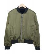 RHC Ron Herman(アールエイチシー ロンハーマン)の古着「中綿リバーシブルジャケット」|カーキ×ブラック