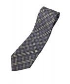 BURBERRY BLACK LABEL(バーバリーブラックレーベル)の古着「チェックネクタイ」|グレー