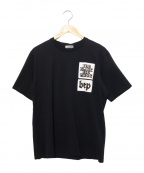 BLACK EYE PATCH(ブラックアイパッチ)の古着「BLACKEYEPATCH STICKER T-SHIRT」 ブラック