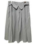 yohji yamamoto+Noir(ヨウジヤマモトプリュスノアール)の古着「フレアスカート」|グレー