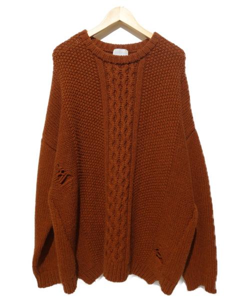 Sise(シセ)Sise (シセ) ローゲージドロップニット ブラウン サイズ:Mの古着・服飾アイテム