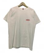 MINDSEEKER(マインドシーカー)の古着「ロゴプリントTシャツ」|ホワイト