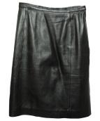 GUCCI(グッチ)の古着「レザースカート」 ブラック