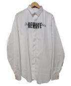 Dior Homme(ディオールオム)の古着「NEWWAVEプリントシャツ」|ホワイト