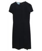PRADA(プラダ)の古着「ブラウスワンピース」 ブラック