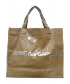 COMME des GARCONS(コムデギャルソン)の古着「PVCトートバッグ」 ベージュ