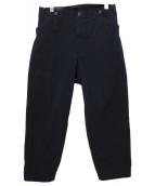 YohjiYamamoto pour homme(ヨウジヤマモトプールオム)の古着「シンチバックワイドテーパードパンツ」 ブラック