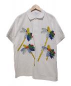 TOGA VIRILIS(トーガ ヴィリリース)の古着「EMBROIDERY POLO SHIRT/ポロシャツ」 ホワイト