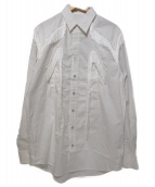 TOGA VIRILIS(トーガ ヴィリリース)の古着「フリンジウエスタンシャツ」|ホワイト