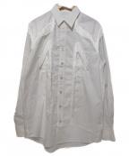 TOGA VIRILIS()の古着「フリンジウエスタンシャツ」|ホワイト