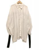 LIMI feu(リミフゥ)の古着「オーバーサイズシャツ」|ホワイト