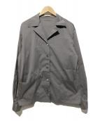 PRADA(プラダ)の古着「オープンカラーシャツ」|グレー