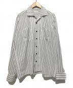 LITTLEBIG(リトルビッグ)の古着「Stripe Open Collared SH」|ホワイト