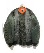 FACETASM(ファセッタズム)の古着「ボンバージャケット」|オリーブ