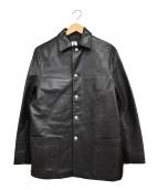 Jipijapa(ヒピハパ)の古着「レザーカバーオール」|ブラック