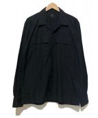 Yohji Yamamoto COSTUME DHOMME(ヨウジヤマモトコスチュームドオム)の古着「オープンカラーシャツ」|ブラック
