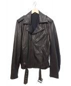 Yohji Yamamoto pour homme(ヨウジヤマモトプールオム)の古着「ライダースジャケット」|ブラック