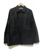 GOOD DESIGN SHOP COMME des GARCONS(グッドデザインショップ コムデギャルソン)の古着「CDGロゴカバーオール」|ブラック