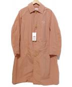 DANTON(ダントン)の古着「ナイロンステンカラーコート」|ピンク