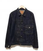 TCB jeans(ティーシービー ジーンズ)の古着「1stモデルデニムジャケット」|ブルー