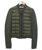 NIKE(ナイキ)の古着「エアロロフトテックフリースダウンジャケット」|オリーブ