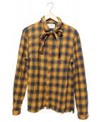 GUCCI(グッチ)の古着「コットンウールシャツ」|オレンジ