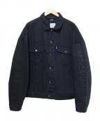 APPLEBUM(アップルバム)の古着「オーバーサイズコットンジャケット」|ブラック
