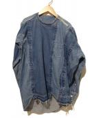 sacai(サカイ)の古着「ショルダージップデニムシャツ」|ブルー