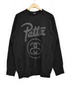 stussy×Patta(ステューシー×パッタ)の古着「クルーネックスウェット」 ブラック