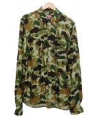 JUNYA WATANABE MAN ×LEVI'S(ジュンヤワタナベマン × リーバイス)の古着「カモフラシャツ」|オリーブ