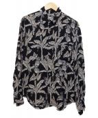 robe de chambre COMME des GARCONS(ローブドシャンブルコムデギャルソン)の古着「アロハシャツ」|ブラック
