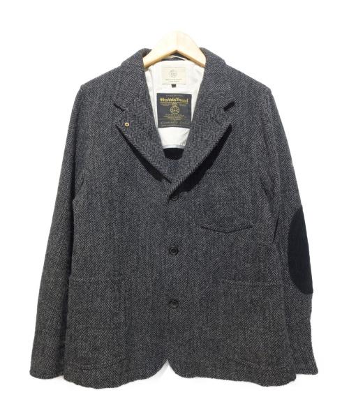 BEAUTY&YOUTH(ビューティーアンドユース)BEAUTY&YOUTH (ビューティーアンドユース) エルボーパッチツイードジャケット グレー サイズ:Lの古着・服飾アイテム