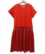 MM6()の古着「ドロップウエストプリーツドレス」 レッド
