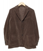 LARDINI(ラルディーニ)の古着「ベルベットジャケット」|ブラウン