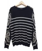BALMAIN(バルマン)の古着「pullover with Western pattern」|ブラック
