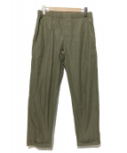 AURALEE(オーラリー)の古着「HIGH COUNT FINX CHAMBRAY PANTS」|カーキ