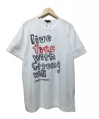 COMME des GARCONS Homme Plus(コムデギャルソンオムプリュス)の古着「live free w.s.w TEE カットソー」|ホワイト