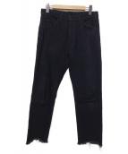 UNUSED(アンユーズド)の古着「カットオフデニムパンツ」|ブラック