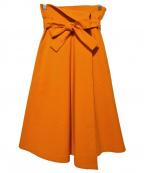 THE IRON(アイロン)の古着「ベルト付フレアスカート」 オレンジ