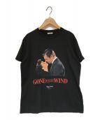 ()の古着「KissesジャージーTシャツ」|ブラック