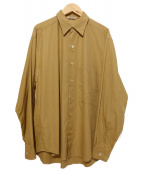 AURALEE(オーラリー)の古着「WASHED FINX TWILL BIG SHIRTS」|ブラウン