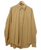 AURALEE(オーラリー)の古着「WASHED FINX TWILL BIG SHIRTS」|ベージュ