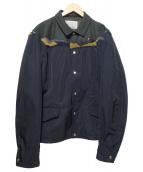 KOLOR(カラー)の古着「異素材切替ブルゾン」|ネイビー