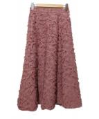 Apuweiser-riche(アプワイザーリッシェ)の古着「フリンジスカート」|ピンク