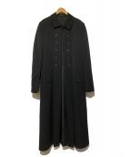 Yohji Yamamoto pour homme(ヨウジヤマモトプールオム)の古着「ウールギャバナポレオンコ-ト」|ブラック