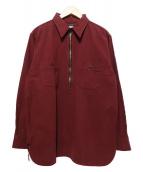 ATLAST & CO(アットラスト)の古着「プルオーバーシャツ」|レッド