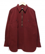 ATLAST & CO(アットラスト)の古着「プルオーバーシャツ」 レッド