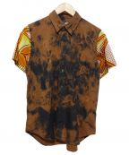 BLACK COMME des GARCONS()の古着「タイダイ半袖シャツ」|ブラウン